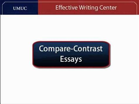 Compare and contrast essay world war 1 and